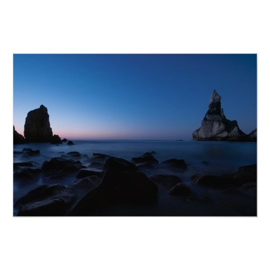 Seascape After Sunset Poster