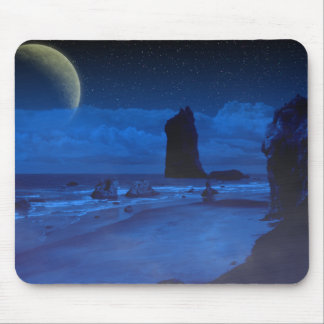 Seascape and Moon Mouse Pad