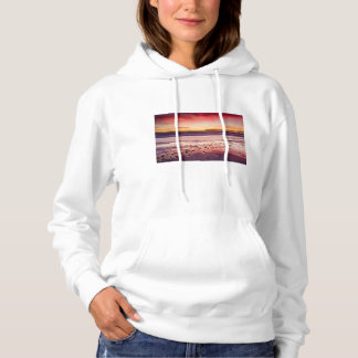 Seascape and pier at sunset, CA Hoodie