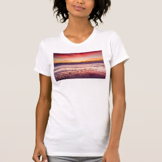 Seascape and pier at sunset, CA T-Shirt