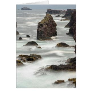 Seascape and sea stacks, Shetland Card