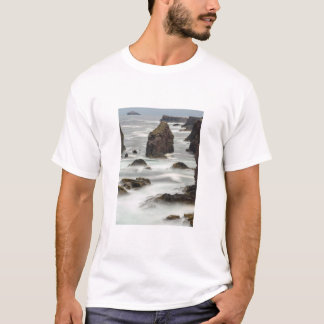 Seascape and sea stacks, Shetland T-Shirt