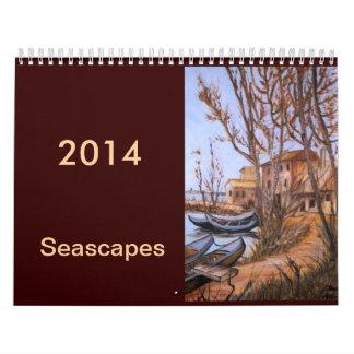 seascape art calendar 2014