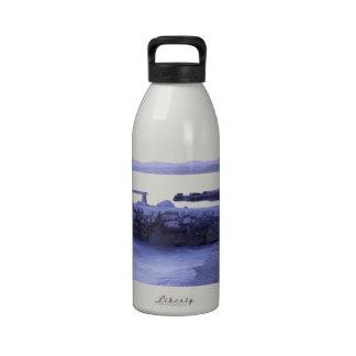 Seascape at dusk water bottles