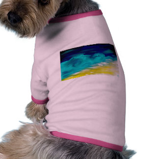 seascape at night doggie t shirt
