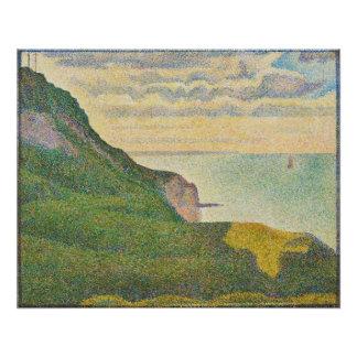 Seascape at Port-en-Bessin, Normandy, 1888 Poster
