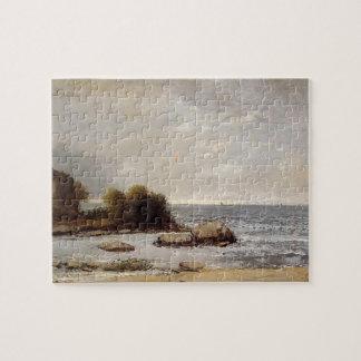 Seascape at Saint Aubin by Gustave Courbet Puzzle