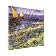 Seascape at Saintes-Maries by Vincent van Gogh Gallery Wrapped Canvas