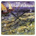 Seascape at Saintes-Maries by Vincent van Gogh Wall Clocks