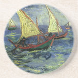 Seascape at Saintes Maries by Vincent van Gogh Coaster