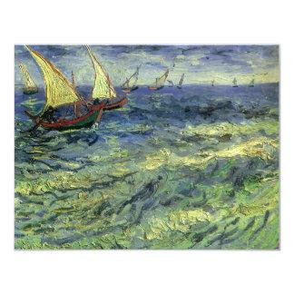 Seascape at Saintes Maries by Vincent van Gogh 4.25x5.5 Paper Invitation Card