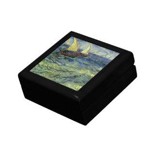 Seascape at Saintes Maries by Vincent van Gogh Jewelry Box
