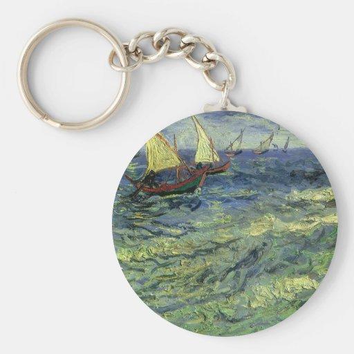 Seascape at Saintes Maries by Vincent van Gogh Key Chain