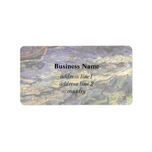 Seascape at Saintes-Maries by Vincent van Gogh Address Label