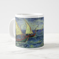 Seascape at Saintes Maries by Vincent van Gogh Large Coffee Mug
