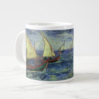 Seascape at Saintes Maries by Vincent van Gogh Large Coffee Mug