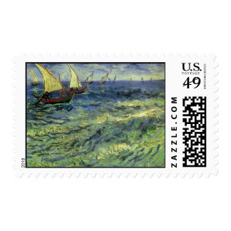 Seascape at Saintes Maries by Vincent van Gogh Postage