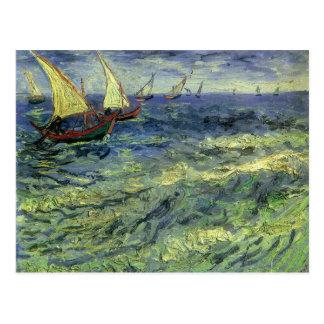 Seascape at Saintes Maries by Vincent van Gogh Postcard