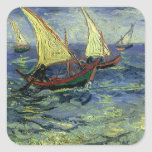 Seascape at Saintes Maries by Vincent van Gogh Stickers
