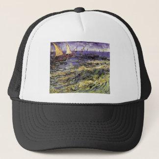 Seascape at Saintes-Maries by Vincent van Gogh Trucker Hat