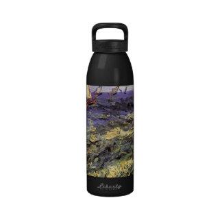 Seascape at Saintes-Maries by Vincent van Gogh Water Bottle