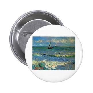 Seascape at Saintes-Maries-de-la-Mer Pinback Button