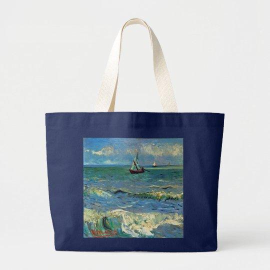 Seascape at Saintes-Maries-de-la-Mer Large Tote Bag