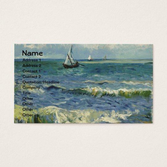 Seascape at Saintes-Maries (F415)Van Gogh Fine Art Business Card