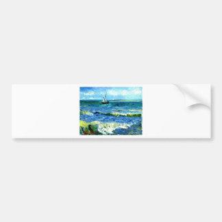 Seascape at Saintes-Maries, Vincent Van Gogh Bumper Sticker