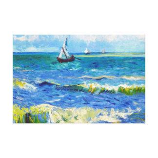 Seascape at Saintes-Maries Vincent Van Gogh Stretched Canvas Print
