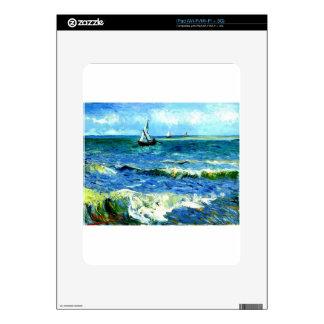 Seascape at Saintes-Maries, Vincent Van Gogh Decals For iPad