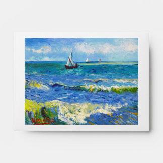 Seascape at Saintes-Maries Vincent Van Gogh Envelope