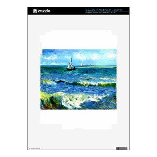 Seascape at Saintes-Maries, Vincent Van Gogh iPad 3 Skin