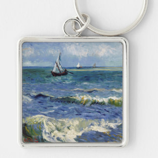 Seascape at Saintes Maries - Vincent Van Gogh Keychain