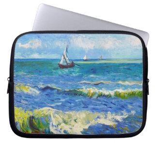 Seascape at Saintes-Maries Vincent Van Gogh Laptop Computer Sleeve