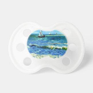 Seascape at Saintes-Maries, Vincent Van Gogh Pacifier