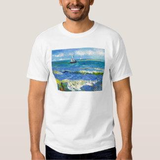Seascape at Saintes-Maries Vincent Van Gogh T Shirt