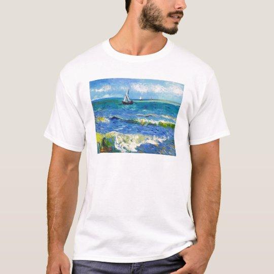 Seascape at Saintes-Maries Vincent Van Gogh T-Shirt