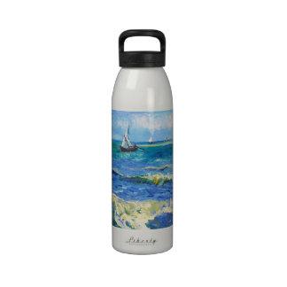 Seascape at Saintes-Maries Vincent Van Gogh Reusable Water Bottle