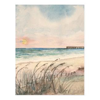 Seascape beach art gifts postcard