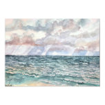 seascape beach paintings Florida art Personalized Announcements