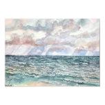 "seascape beach paintings Florida art 5"" X 7"" Invitation Card"