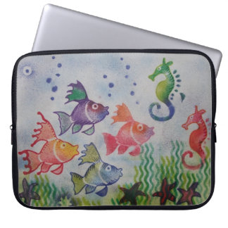 Seascape Blown Ink Laptop Case Computer Sleeves