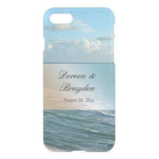 Seascape Blue and Brown Ocean Beach Wedding iPhone 7 Case