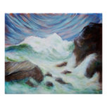 Seascape by Laurie Mitchell Print Poster