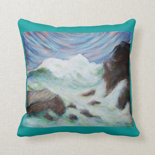 Seascape by Laurie MoJo Pillow