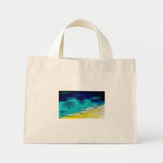 seascape by night mini tote bag
