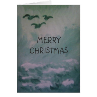 SEASCAPE CHRISTMAS GREETING CARD