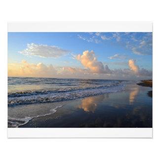 Seascape Cloud Reflectiom Photographic Print