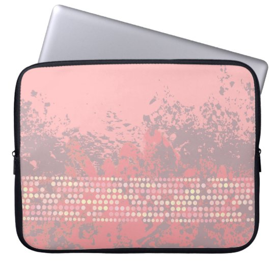 seascape coral pink surf dot laptop case laptop sleeve